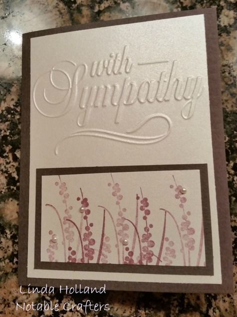 With Sympathy/ Darice embossing folder/Rubbernecker Stamps/Kissing technique