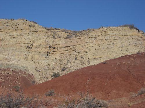 Arcillas de precordillera en Cerro Bandera