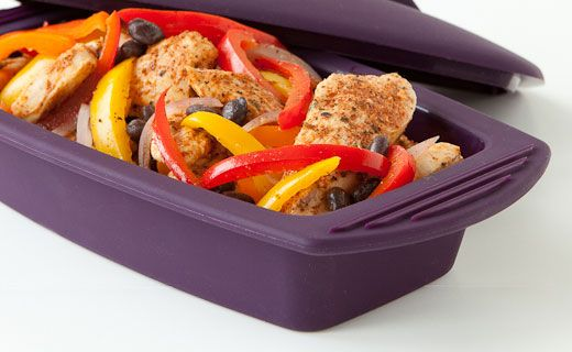 Lunch/Dinner: 10-minute Fajitas (220 calories/serving) serve with crusty bread