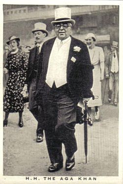 Sir Sultan Muhammed Shah, Aga Khan III, (November 2, 1877 – July 11, 1957) was the 48th Imam of the Shia Ismaili Muslims. He was one of the founders and the first president of the All-India Muslim League. His goal was the advancement of Muslim agendas and protection of Muslim rights in India. He was nominated to represent India to the League of Nations in 1932 and served as President of the League of Nations from 1937-38. He was instrumental in the creation of Pakistan.