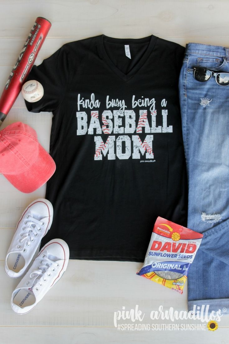 69d2188cc Are you a busy baseball mom?! This cutie is for all of you moms spending  all your time at the ballpark! Printed on our super soft vneck tees.