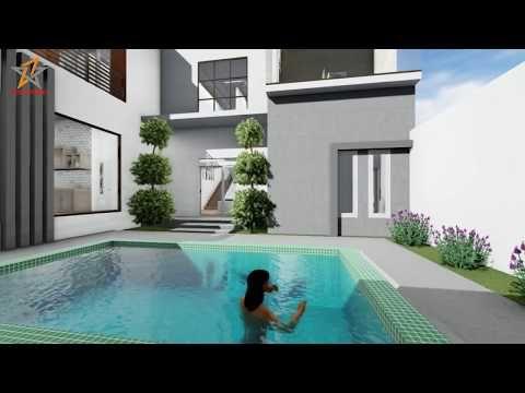 desain rumah ada kolam renang - chocolateslicious