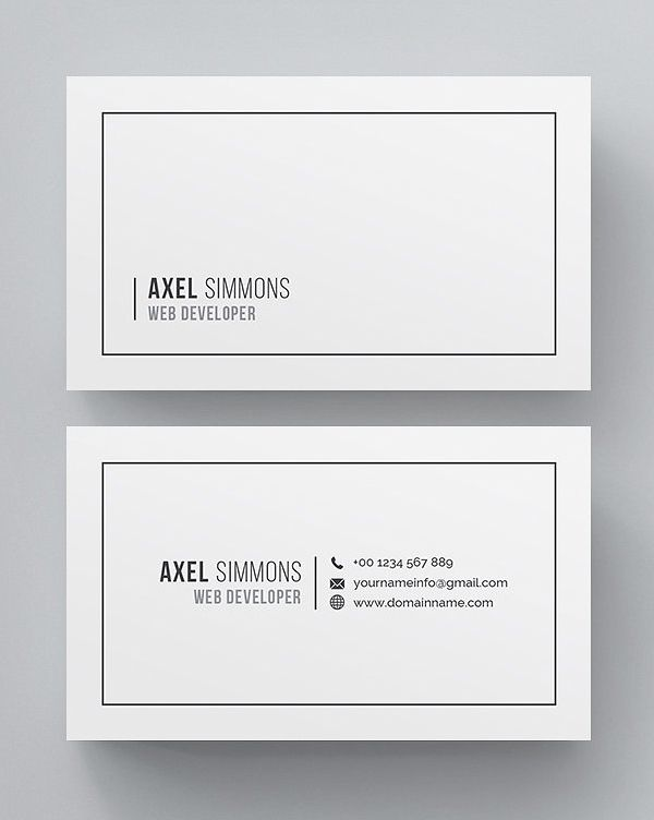 Clean multipurpose business card template  #minimaldesign #minimal #businesscard #visitingcard