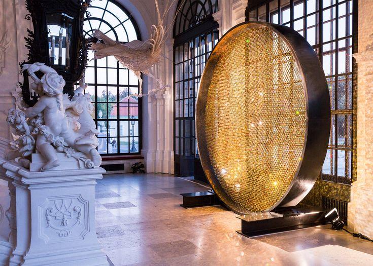 London design studio Fredrikson Stallard has brought its glimmering Prologue installation to Vienna's baroque Belvedere Palace.