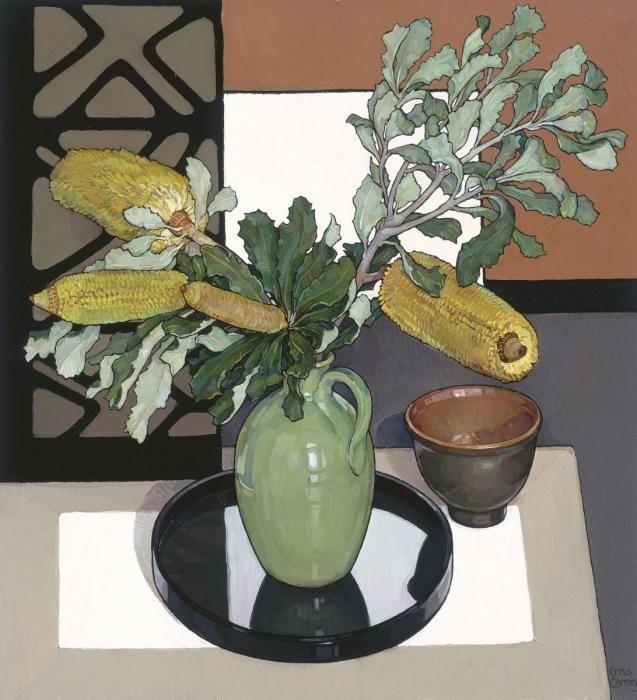 Criss Canning (b.1947) — Yellow Banksia (637x700)