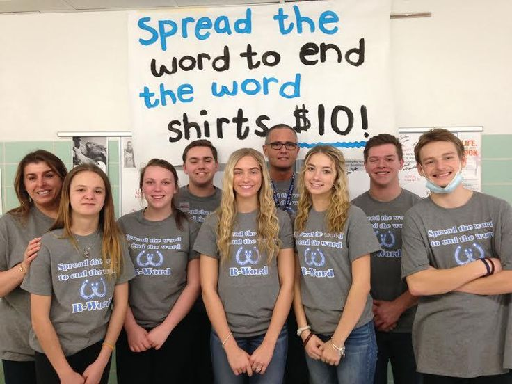 """Bedford High School students in Temperance MI joined in the """"Spread the Word to End the Word"""" campaign in March 2017. You can read about their efforts in a news report at the link."""