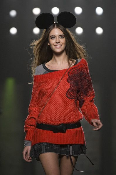 A model walks the runway during the Desigual catwalk show as part of the 080 Barcelona Fashion week on January 27, 2012 in Barcelona, Spain.