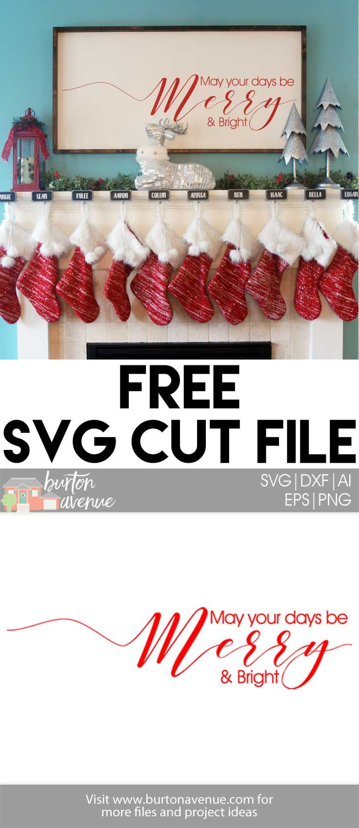 Free Christmas SVG Cut Files for Silhouette and Cricut - Available for FREEuntil 12/2217