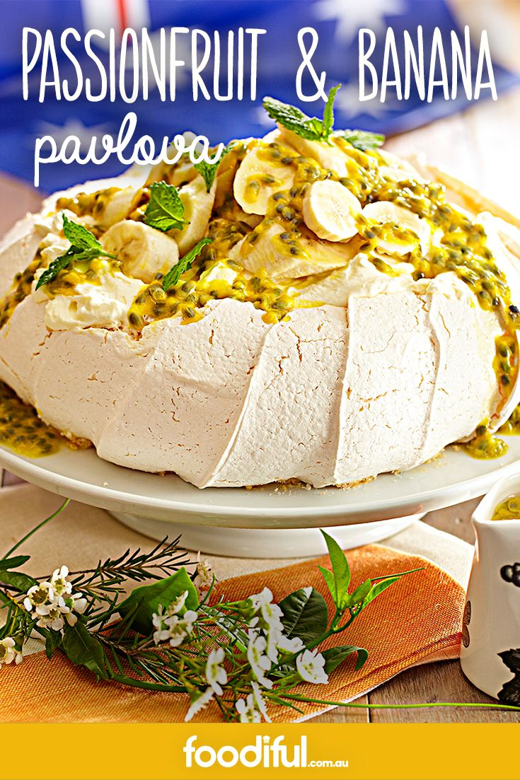 There's not too much more Aussie than a passionfruit pavlova. With a crispy, light meringue, and topped with passionfruit and bananas, it's a tropical Australian mess. This recipe takes 3 hrs and 40 mins and serves 6 people.