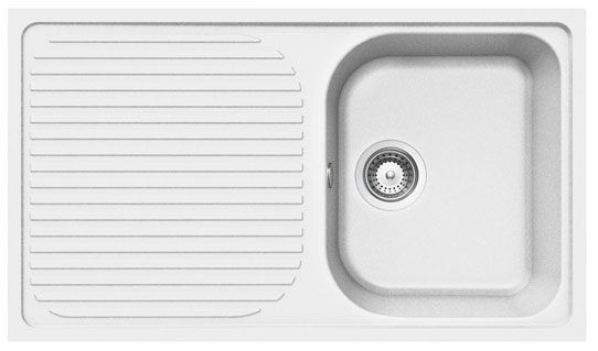 Bluci RUBUS-G 1.0 Bowl White Granite Sink