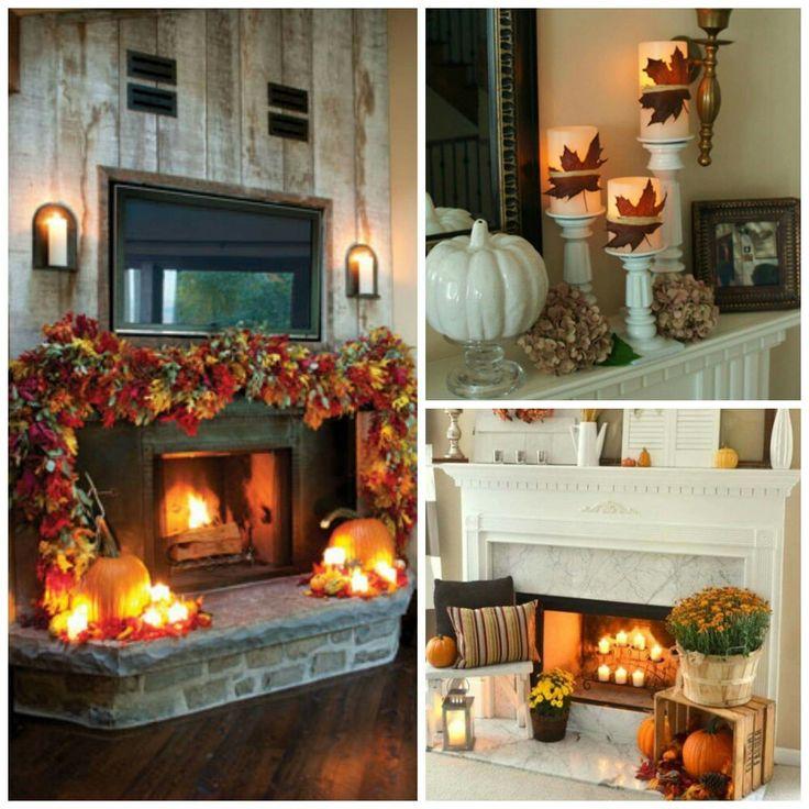 Fall Fireplace Mantels: Fall Fireplace Mantel Decor