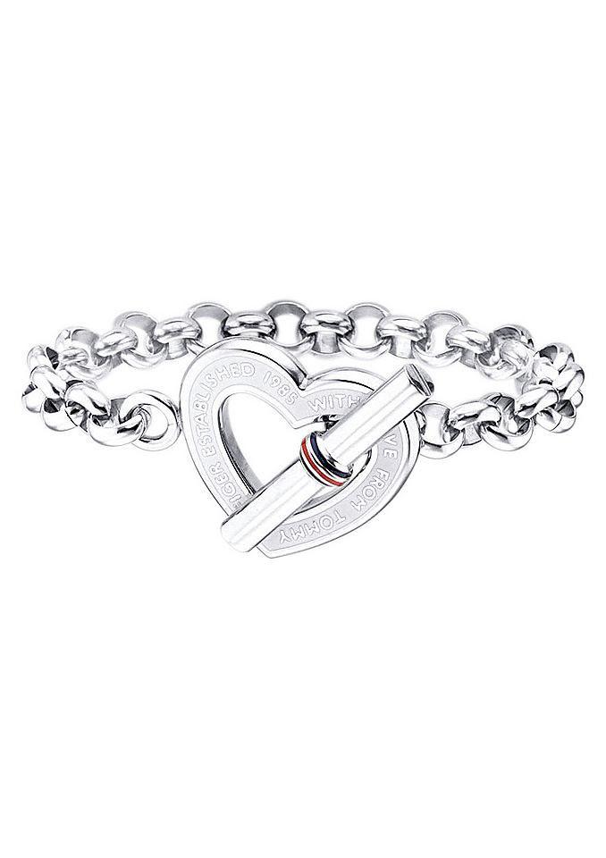 Armband, Tommy Hilfiger, »Valentine's Day«. Mit Emaille, ca. 20,3 cm lang. Aus Edelstahl. Lieferung in einer TOMMY HILFIGER-Verpackung....