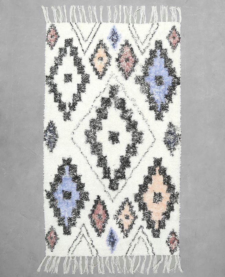 Baumwollteppich im Ethno-Stil
