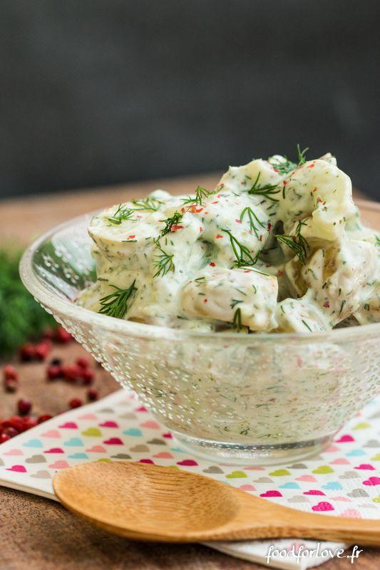 Salade de Pommes de Terre et Concombre au Yaourt et à l'Aneth - Food for Love