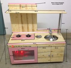 misure cucina giocattolo fai da te