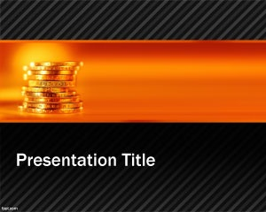 Gold Mine PowerPoint template is a free PowerPoint presentation template with gold mine image and in particular featuring some gold coins