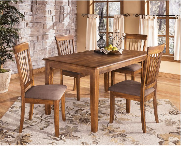 Berringer Rustic Brown Vintage Casual 5 Piece Dining Set. Our Price:  $479.90.