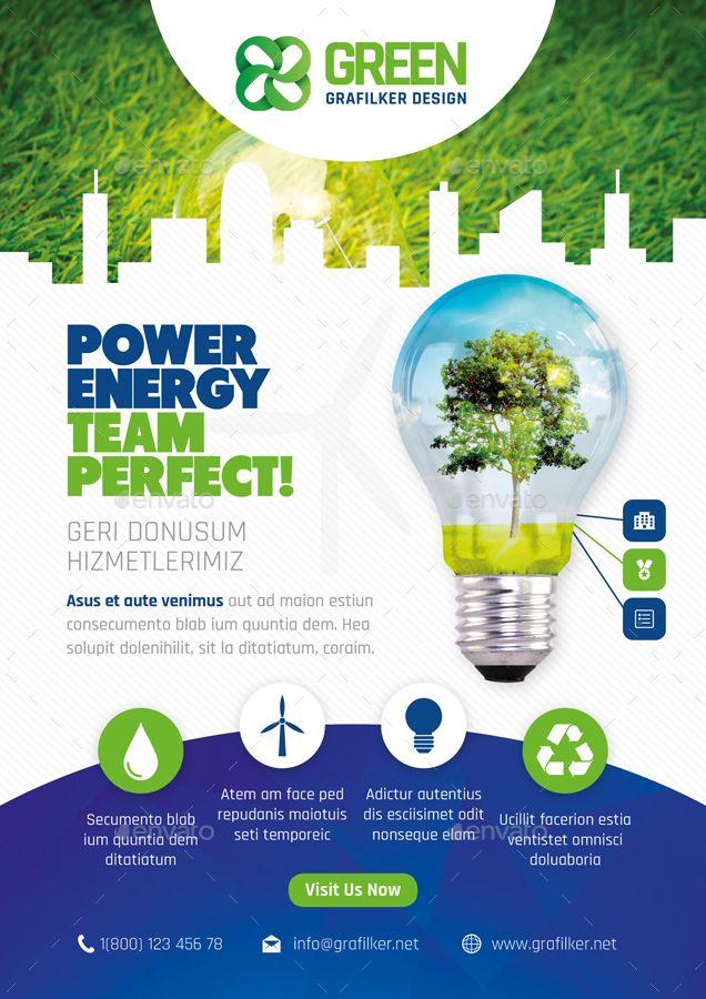 Green Energy Flyer Bundle Templates Energy Green