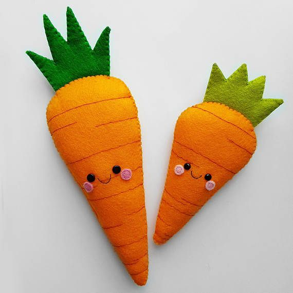 A custom order for a handmade felt carrot & smaller felt carrot.  Thank you