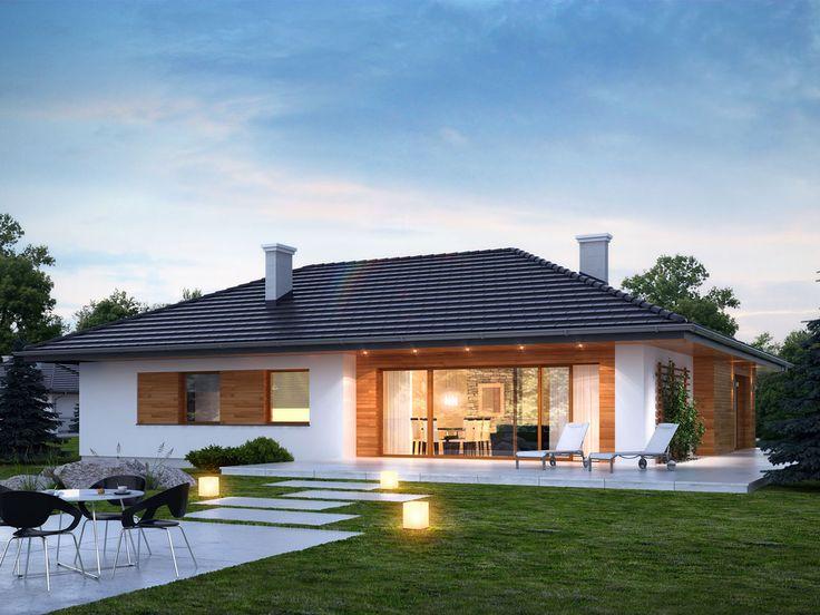 Ten wygodny dom, swoim pełnym programem funkcjonalnym zapewnia komfort 4-osobowej rodzinie.