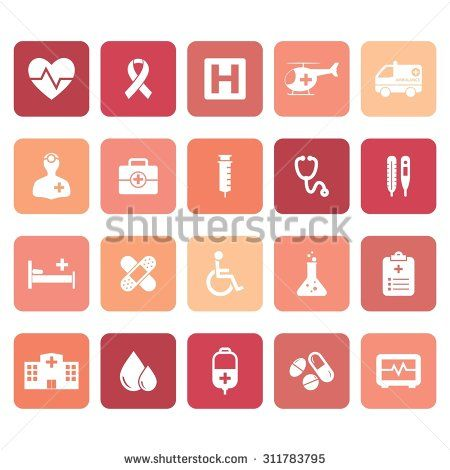 Medical icons. Hospital icon. Illustration. Vector. EPS 10 - stock vector