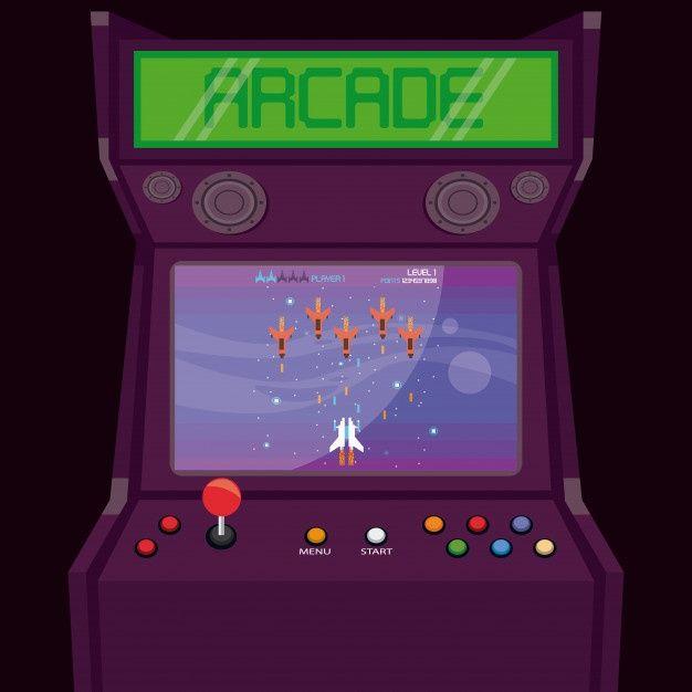 Arcade Game Machines, Arcade Machine, Aesthetic Gif, Retro Aesthetic, Fix It Felix Jr, Retro Arcade Games, Funky Art, Bullet Journal Ideas Pages, Video Game Art