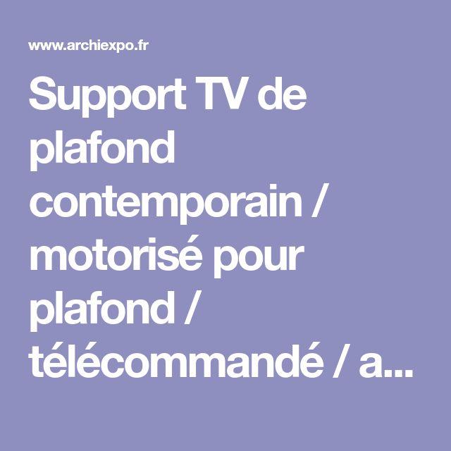Support TV de plafond contemporain / motorisé pour plafond / télécommandé / avec élévateur d'écran - ULISSE - Digisonic - Vidéos