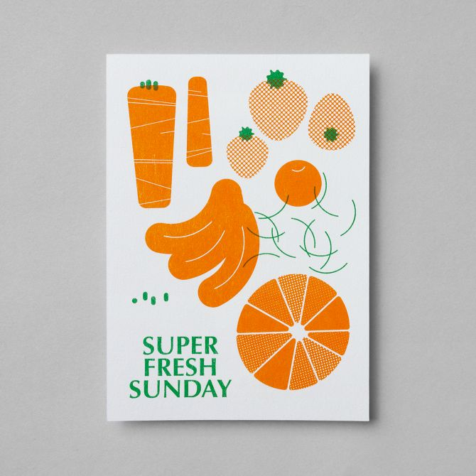 poster and card for Sunday Special #1 - Super Fresh Sunday - studio fnt