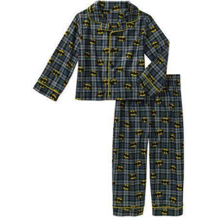 Batman Baby Toddler Boy Button Down Pajama Sleepwear Set, Black