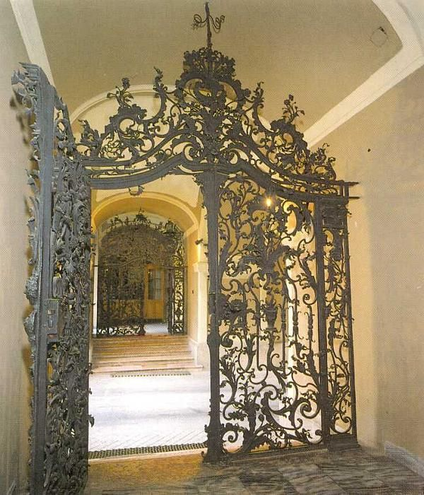 Eger, Hungary. The photos Ironwork gate Fazola Henry smith work of the 18th century
