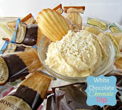 WHITE CHOCOLATE CHEESECAKE DESSERT DIP