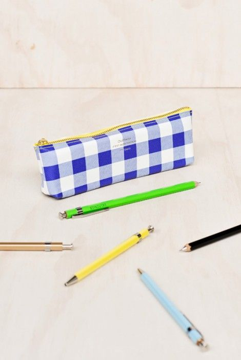 Buy Delfonics - Gingham Pencil Case - NoteMaker Stationery
