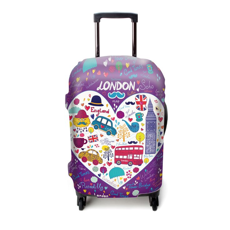 Explore Land Luckiplus Spandex Travel Luggage Cover Fits 18-32 Inch Luggage