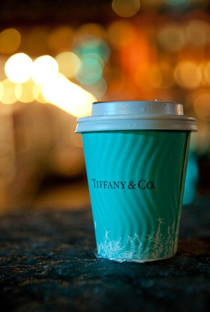 Tiffany coffee cup  love that blue!