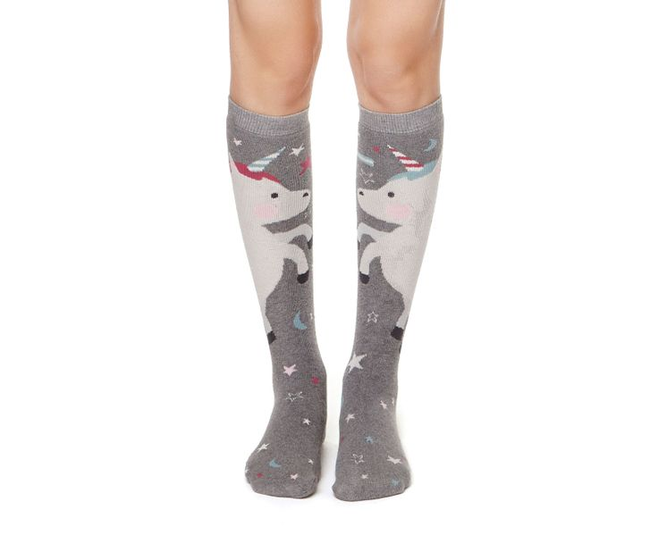 Unicorn pattern long socks - OYSHO