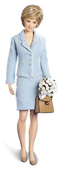 Image detail for -Franklin Mint Dolls - Princess Diana - Light Blue Suit