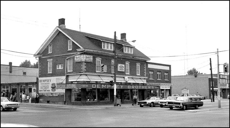 Dempsey's Hardware Store N_W corner 1969 Yonge street and Sheppard avenue. Fortunately building was saved and relocated and is now 250 Beecroft in Toronto