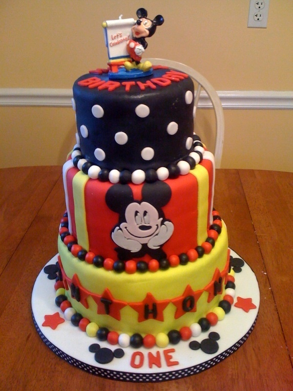 mickey Mouse cake. all-my-cakes