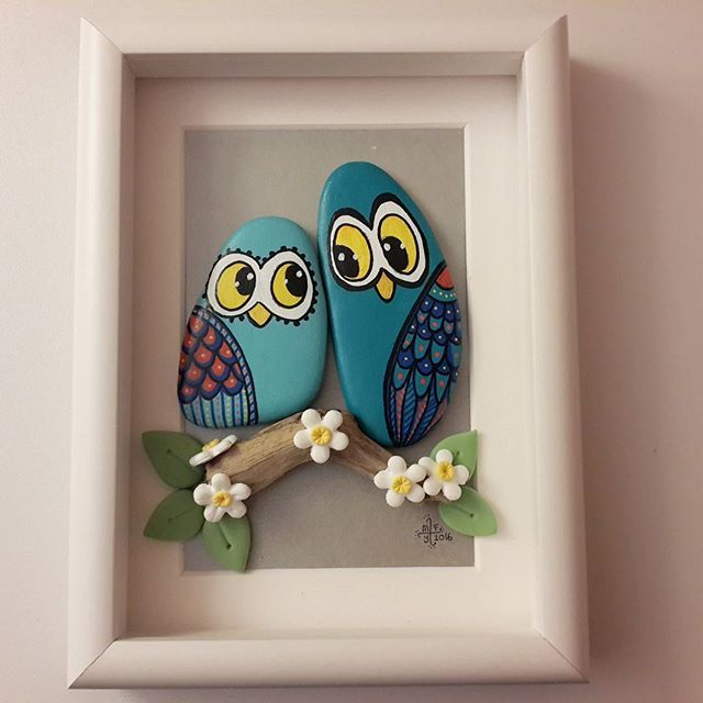 Painted rocks, cute owls !