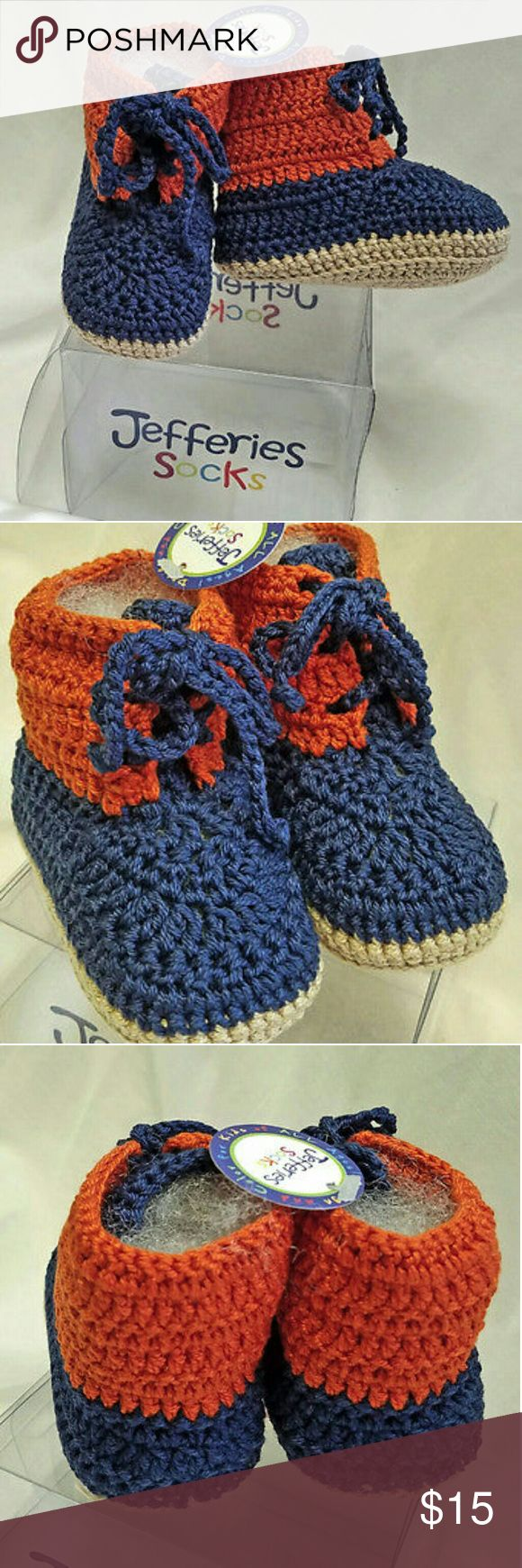 Jeffries Socks Crocheted Booties Cotton NB Shoes 100% cotton Hand wash cold  and dry flat Hand crocheted Jefferies Socks Shoes Baby & Walker