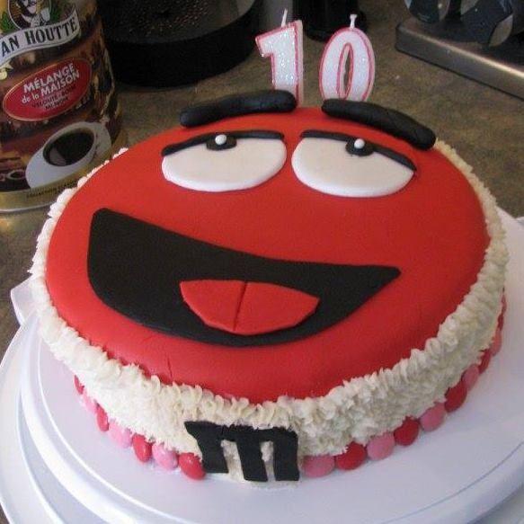 Gâteau M&M pour les 10 ans de ma fille! :D