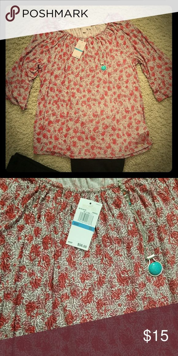 Michael khors 3/4 sleeve red and white shirt Michael khors 3/4 sleeve red and white shirt. Size XL super soft and comfy. Michael Kors Tops