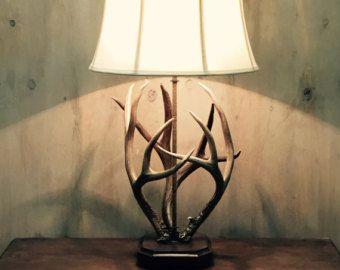 Lampe de bois de cerf lampe bois lampe de par BoeufRiverDesigns