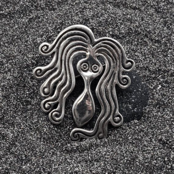 Vintage Brooch Sterling Silver Octopus Brooch by AllAboutSeas