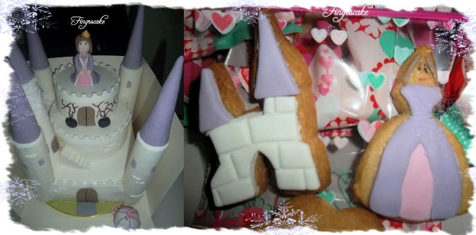 Castle princess cake biscuits
