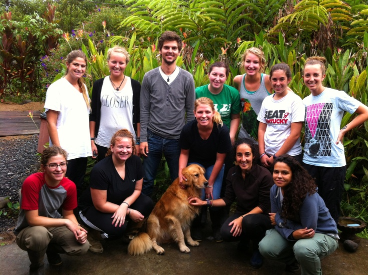 Volunteer group shot at the Amazon Rescue Center