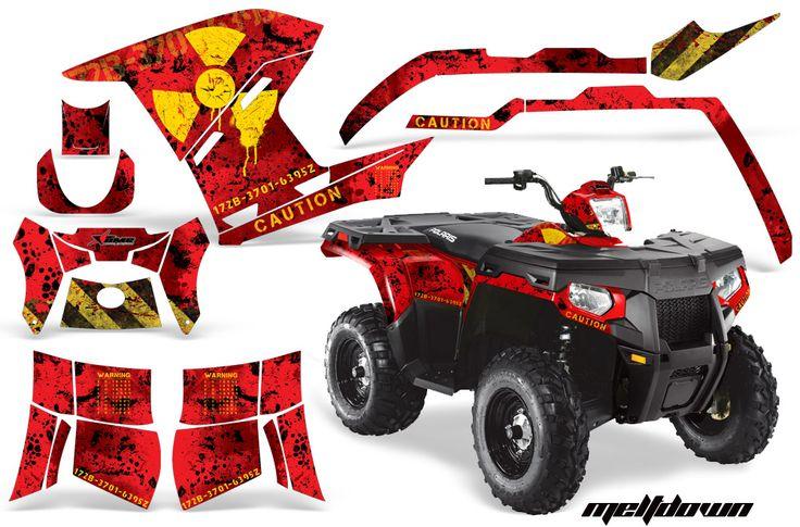 Polaris ATV Quad Graphic Sticker Kit for Sportsman 500/800