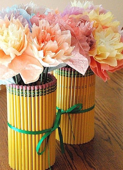 Цветы на день учителя своими руками