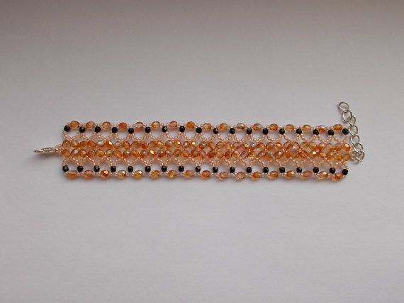 Check out this item in my Etsy shop https://www.etsy.com/listing/494416990/orange-bracelet