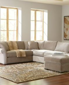Joyce Fabric Sectional Living Room Furniture Collection Living Room Furniture Furniture Macys In Granite Love The Couch